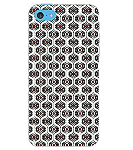 PrintDhaba RED DOT PATTERN D-6737 Back Case Cover for APPLE IPHONE 5C (Multi-Coloured)