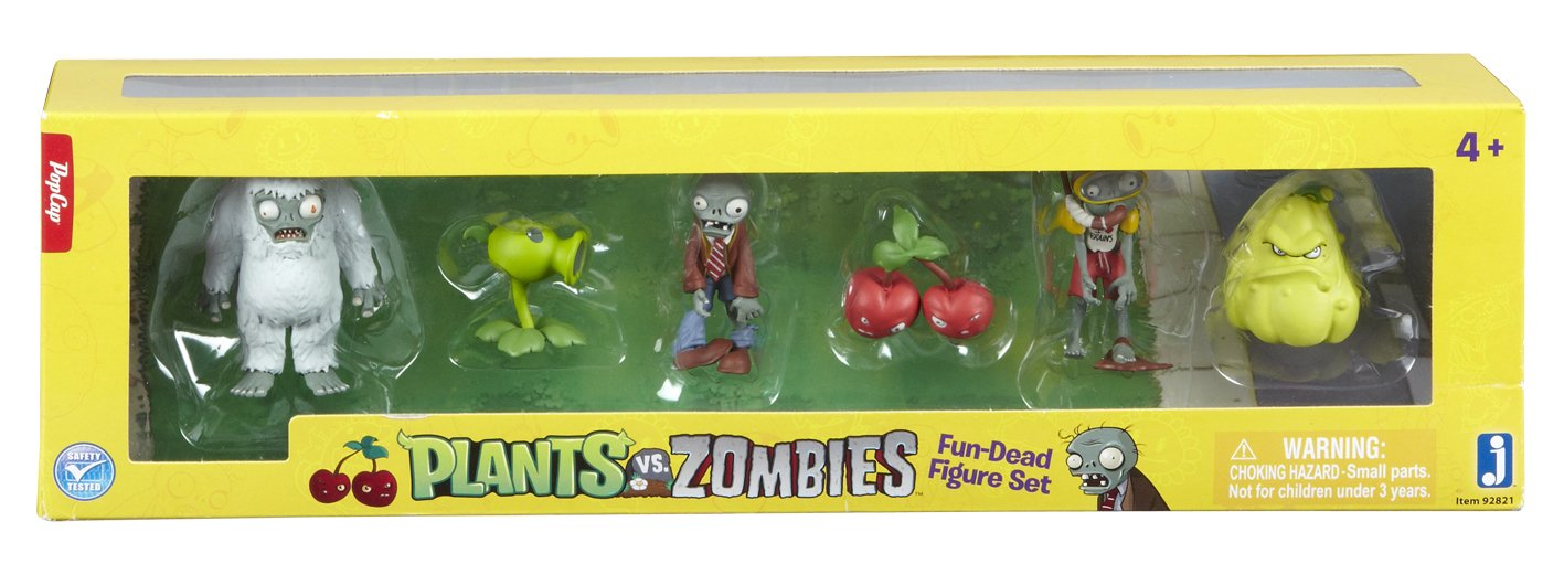 Plants vs Zombies Mini-Figure Set (6 Figures)