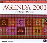 Agenda 2001 Point de Croix : Rouge