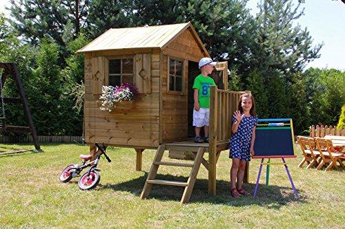 Baumotte Spielhaus Holz - Kinderspielhaus Donatello Stelzenhaus