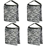 Neewer 4 Packs 10x12 inches/26x30 centimeters Heavy Duty Empty Studio Video Photographic Sandbag for Light Stand, Boom Stand, Tripod and Reflector Holder (ACU Camo)