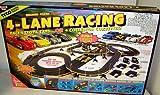 cheap TYCO 6693 4- Lane Racing HO Scale Electric Slot Car Set