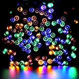 Solar String Lights - Gdealer 72ft 200 LED 8 Modes Solar Powered Waterproof Starry Fairy Outdoor String Lights Christmas Decoration Lights for Patio Gardens Homes Landscape Wedding Party