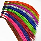 """New 50pcs Grizzly synthetic Feather hair Extensions 16"""" with 50 beads for free"""