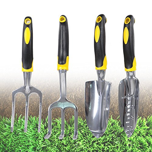Bstpower garden tool set 4pcs with heavy duty cast for Heavy duty garden tools