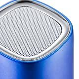 OXA Mini Portable Wireless Bluetooth Speaker with Rechargeable Lithium Polymer Battery Support for Micro SD Cards and AUX Line-in Port for Laptops; Smart Phones and More(Blue)