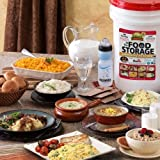 Augason Farms 30 Day Supply Emergency Food Emergency Survival Disaster Pail Kit All in One with 1 Fire starter disk & 1 Water bottle with filter