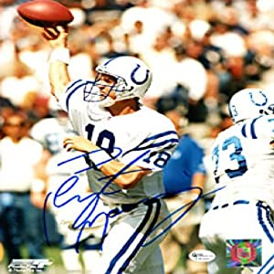 Peyton Manning Autographed Signed Throwing the Ball 8x10 Photo - Indianapolis Colts by Hollywood Collectibles