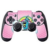 Rainbow Unicorn Pink Background Design PS4 DualShock4 Controller Vinyl Decal Sticker Skin by egeek amz