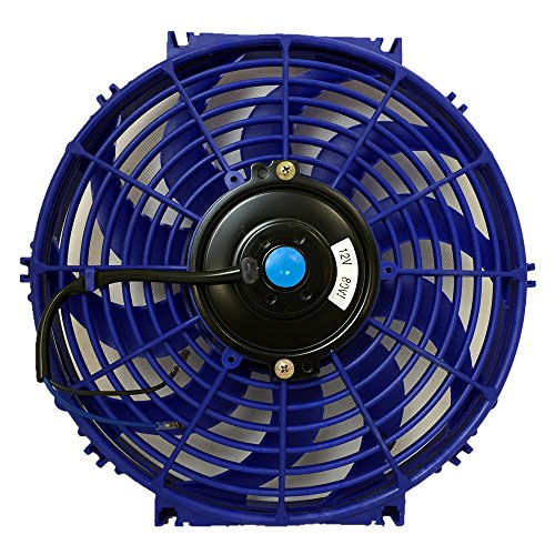 Upgr8 Universal High Performance 12V Slim Electric Cooling Radiator Fan With Fan Mounting Kit (12 Inch, Blue) (Toyota Mr2 Radiator Fan compare prices)