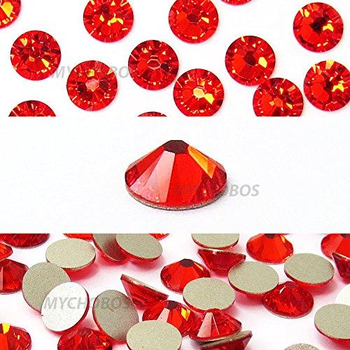HYACINTH (236) orange red Swarovski NEW 2088 XIRIUS Rose 34ss 7mm flatback No-Hotfix rhinestones ss34 18 pcs (1/8 gross) *FREE Shipping from Mychobos (Crystal-Wholesale)*