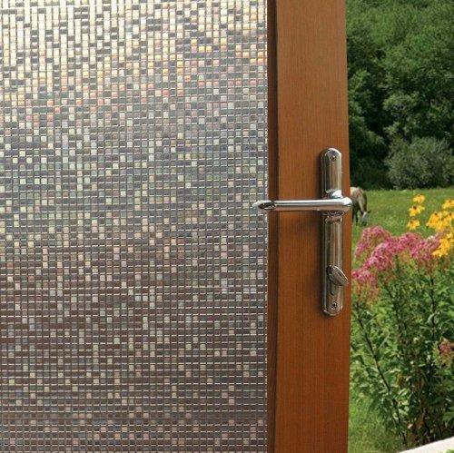 Fancy-fix Cut Glass Mini Mosaic Decorative Window Film 17.7 In. By 59 In. (Windows Film compare prices)
