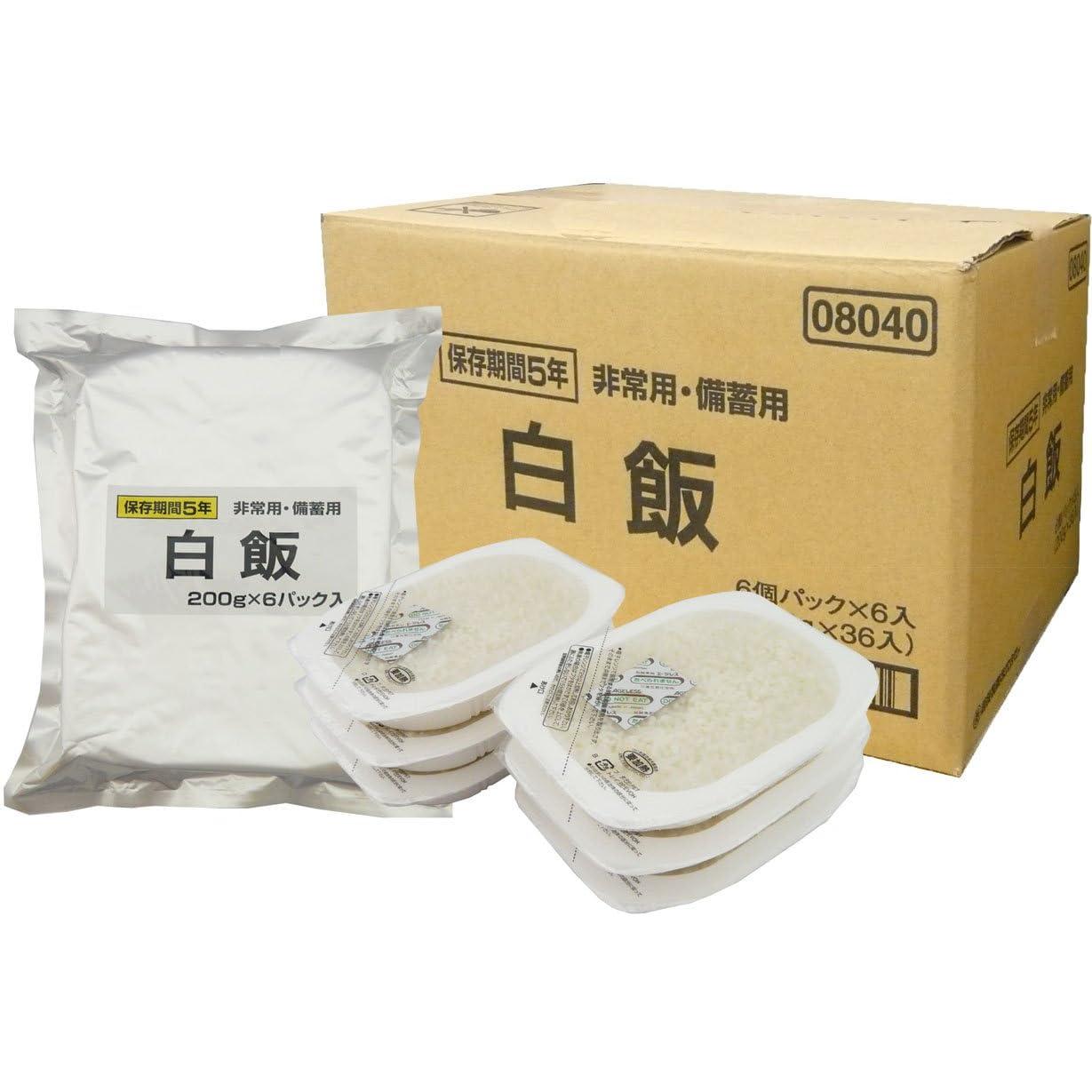 【越後製菓】備蓄用・保存用白飯 6個×6袋(36食分)【賞味期限5年】