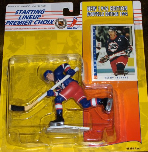 Teemu Selanne Starting Lineup Collectible Figure & Card