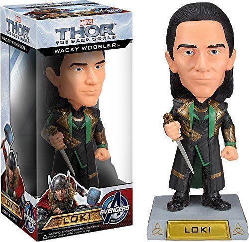 Loki Bobble Head Figure: Thor - The Dark World x Wacky Wobblers Series