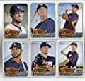 2014 Topps Heritage Baseball Cards Houston Astros 11 Card Team Set (In 4 Pocket Collector's Album)