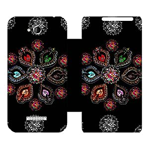 Phone Candy Designer Flip Cover with hi-res printed Vinyl sticker wrap-around for HTC Desire 616 Dual Sim
