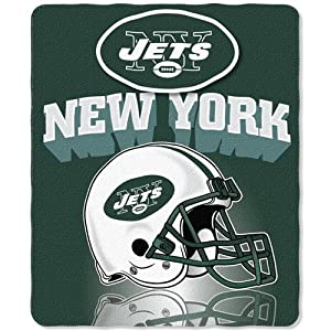 Northwest New York Jets 50x60 Grid Iron Fleece Throw at Sears.com