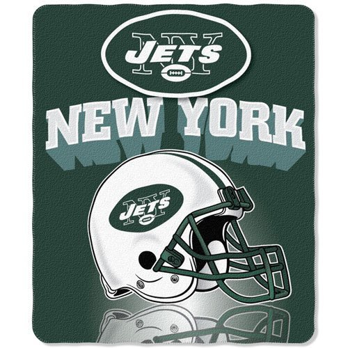 New York Jets 50x60 Grid Iron Fleece Throw at Amazon.com