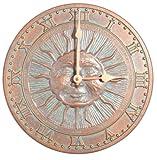 Whitehall Sunface Clock - Copper Verdi