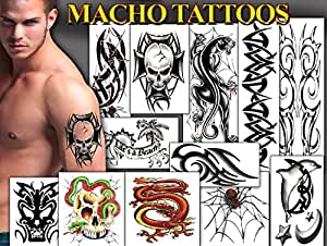 TEMPORARY TATTOO FACTORY Tattoos for Guys