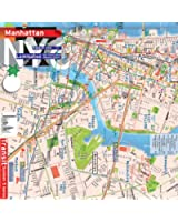 Plan de New York, Manhattan , Brooklyn Downtown, métro système complet [2013]