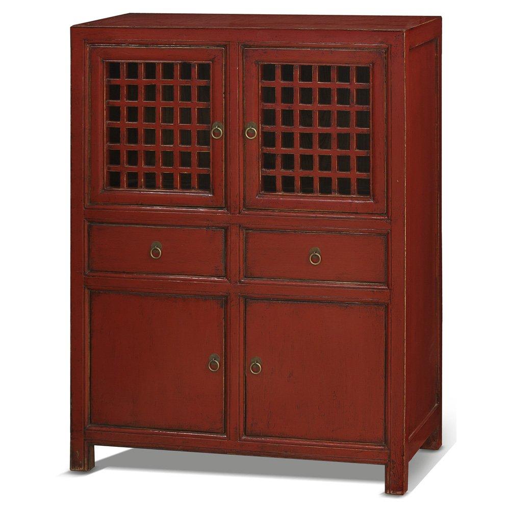 China Furniture Online Elmwood Cabinet, Vintage Hand