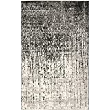 Safavieh Retro Collection RET2770-9079 Area Rug, 8-Feet by 10-Feet, Black and Grey