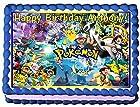 Pokemon Personalized Edible Cake Topper Image -- 1/4 Sheet