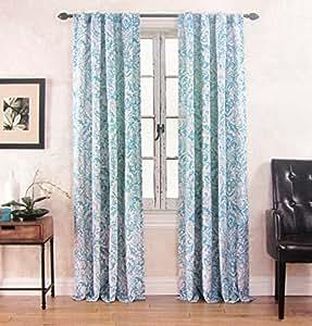 Cynthia Rowley Miranda Damask Paisley Scrolls Window Panels 52 By 96 Inch Set Of 2