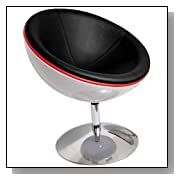 Black Round Lunar Lounger Chair