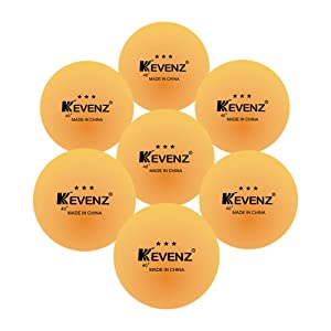 50-Pack KEVENZ 3-Star 40+ new material Table Tennis Balls,Advanced Training Ping Pong Balls (Practice ping-pong Ball) (Orange)