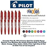 Pilot Red Frixion Rollerball Erasable Pens Pen 0.7mm Nib Tip 0.35mm Line BL-FR7 (Pack Of 3)