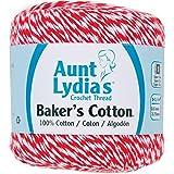 Coats Crochet Aunt Lydia's Baker's Cotton Crochet Thread, Red