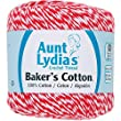 Coats Crochet Aunt Lydia\'s Baker\'s Cotton Crochet Thread, Red