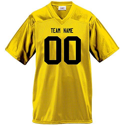 Gameday Mens Fan Wear Custom Football Jersey Adult large in Gold (Custom Football Jersey compare prices)