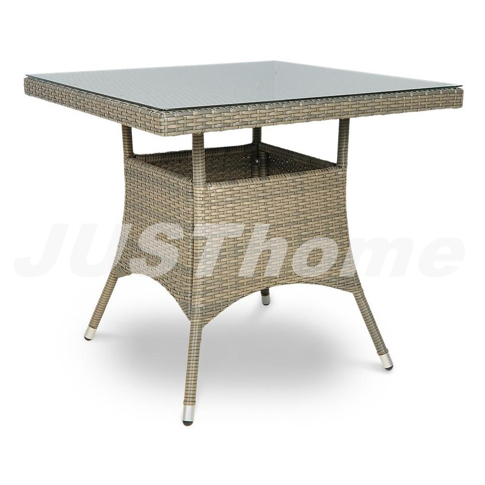 JUSThome Gartentisch Glastisch Bistrotisch Lugo (HxBxL): 74x80x80 cm Grau jetzt kaufen