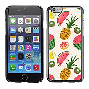 Omega Covers - Snap on Hard Back Case Cover Shell FOR Apple Iphone 6 Plus / 6S Plus ( 5.5 ) - Pineapple Fruit Painted Drawing