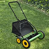 "Lawn Mower 20"" Classic Hand Push Reel w/ Grass Catcher 6 Adjustable Height 20"""