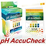 USA FDA Registered High Precision 100 pH Test Strips + Get 12 FREE + 3 FREE pH e-Charts + FREE Daily Workouts w/ 2-year Warranty (Shelf Life) by pH AccuCheck to Monitor Your pH. Unsurpassed Value!