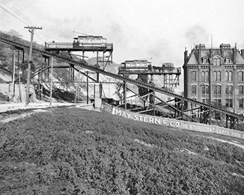 restored-16x20-black-white-photo-historic-cincinnati-ohio-the-bellevue-incline-c1907
