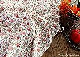 コットン 綿 天竺 ニット 花柄 生地 リトルフラワー (50cm単位でカットしてお届けします)