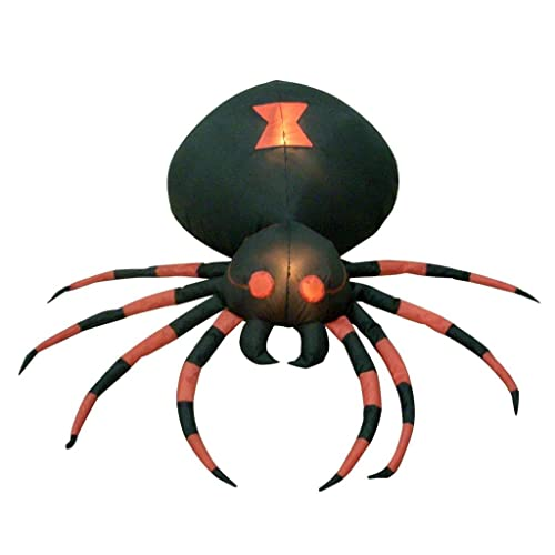 4 Foot Wide Halloween Inflatable Black Spider Yard Decoration