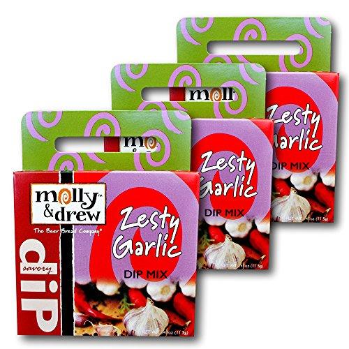 molly&drew Savory Dip Mix (3 Packs), Zesty Garlic (Garlic Snack Mix compare prices)