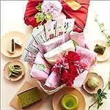伊藤久右衛門 母の日 ギフト 宇治抹茶スイーツ カーネーション造花 花の包装 セット 竹かご風呂敷包み