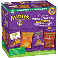 Annie's Organic Variety Pack Cheddar Bunnies and Bunny Graham Crackers (36 Count)