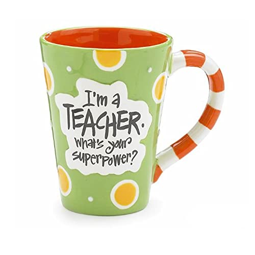 Im A Teacher Whats Your Super Power? Teacher 12 oz Coffee Mug Great Gift