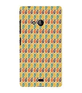 Abstract Leaf Design 3D Hard Polycarbonate Designer Back Case Cover for Lumia Lumia 540 :: Microsoft Lumia 540