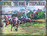 The GRAND NATIONAL Aintree the home of the steeple chase large metal sign 12