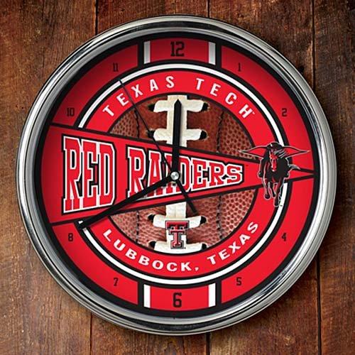 Texas Tech Red Raiders NCAA Chrome Clock